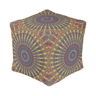 Bohemian oval mandala pouf