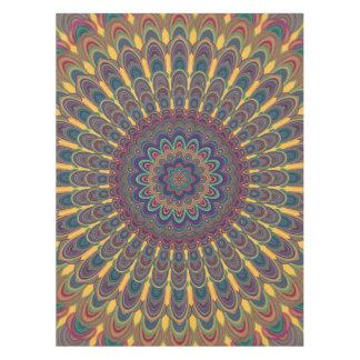 Bohemian oval mandala tablecloth
