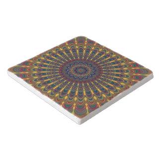 Bohemian oval mandala trivet