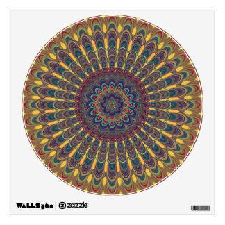 Bohemian oval mandala wall decal