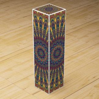 Bohemian oval mandala wine gift box