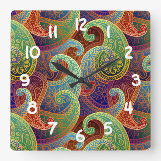 Bohemian Paisley Timeless Pattern Wall Clocks
