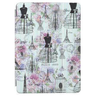Bohemian pink floral stripes paris mannequin iPad air cover