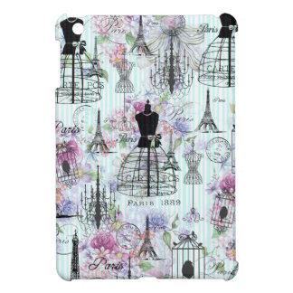 Bohemian pink floral stripes paris mannequin iPad mini case