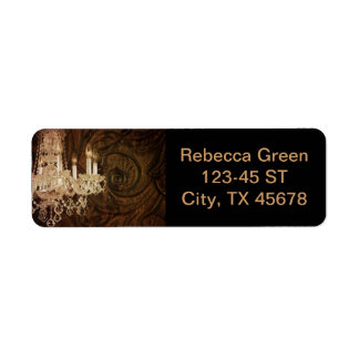 Bohemian Primitive Western Country chandelier Return Address Label