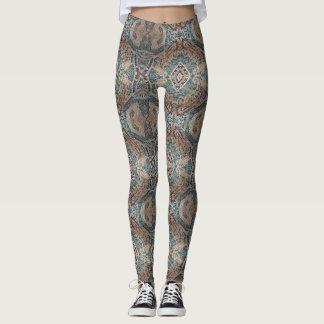 Bohemian Print Teal Leggings