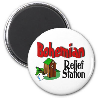 Bohemian Relief Station Magnet