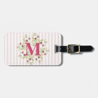 Bohemian Rose Garden   Personalised Monogram Luggage Tag