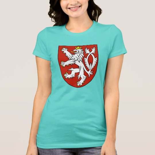 Bohemian Royal Lion Shield Women's Jersey T-Shirt