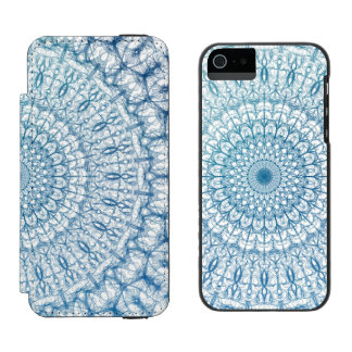 Bohemian Sky and Turquoise Blue Fractal Design Incipio Watson™ iPhone 5 Wallet Case