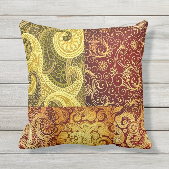 Bohemian Spring and Summer Chic Throw Pillow