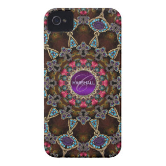Bohemian Tapestry Art Monogram CaseMate iPhone 4 Case-Mate Case