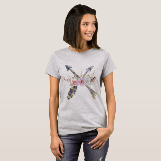 Bohemian Texas Love Chic Womens Tee