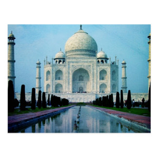 Bohemian travel India Agra Vintage Taj Mahal Postcard