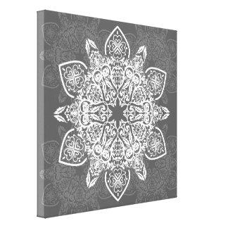 Bohemian Trendy Mandala Pattern | Canvas Print