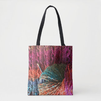 Bohemian Yarn with Knitting Tote Bag
