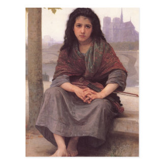 Bohemienne (The Bohemian) by William Bouguereau Postcard