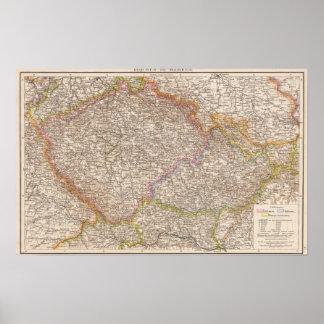 Bohmen, Mahren Atlas Map Poster