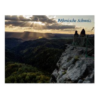 Böhmische Schweiz scenic view photo Postcard