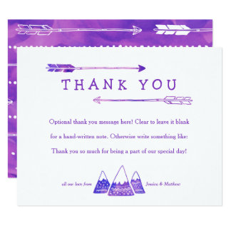 Boho Adventure Thank You Card for Girl Baby Shower