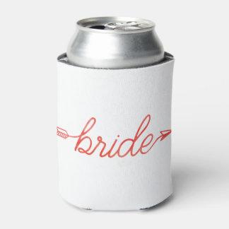 Boho Arrow Bride Can Cooler