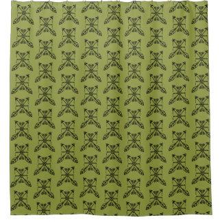 Boho Arrow Squares Shower Curtain