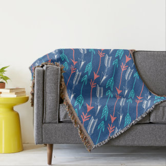 Boho Arrows Custom Throw Blanket