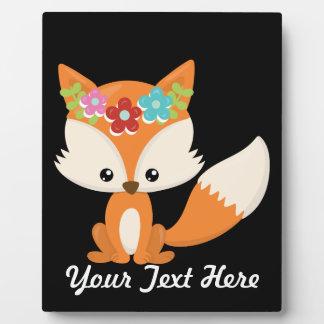 Boho Autumn Fox Plaque