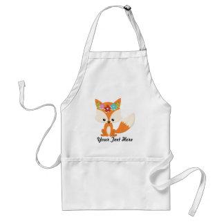 Boho Autumn Fox Standard Apron