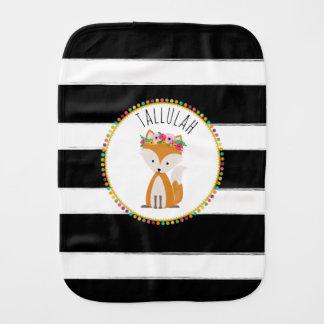 Boho Baby Fox Pompom Inspired Burp Cloth