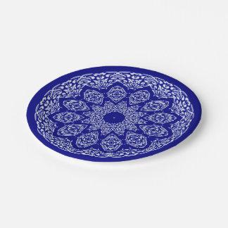 Boho Bazaar, Mix & Match Cobalt Pattern 7 Inch Paper Plate