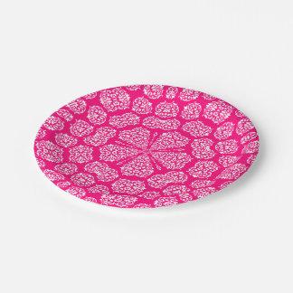 Boho Bazaar, Mix & Match Rose Pattern 7 Inch Paper Plate