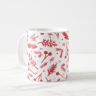 Boho Berries Holiday Mug in Red
