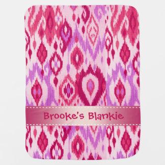 Boho Blankie magenta lilac violet kat Tapestry Receiving Blankets