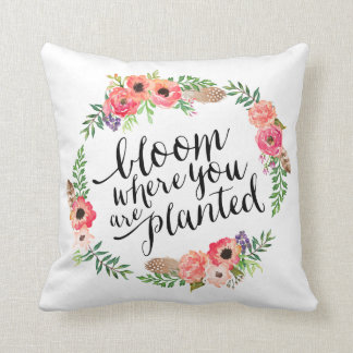Boho Bloom | Throw Pillow