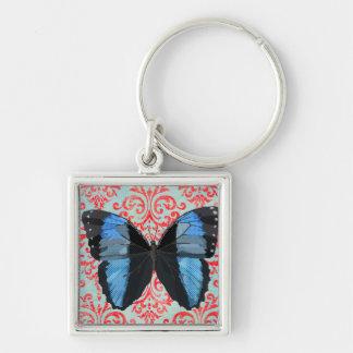 Boho Blue Butterfly Keychain