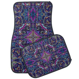 Boho blue kaleidoscope native american trend auto mat
