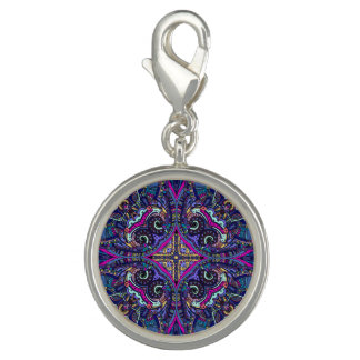 Boho blue kaleidoscope native american trend charms
