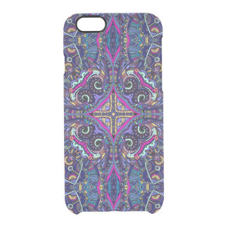 Boho blue kaleidoscope native american trend clear iPhone 6/6S case