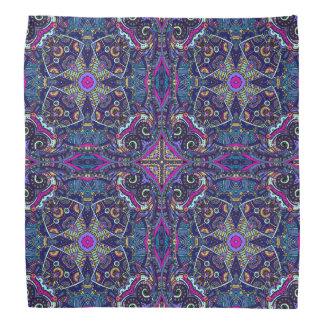 Boho blue kaleidoscope native american trend do-rags