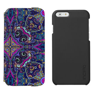 Boho blue kaleidoscope native american trend incipio watson™ iPhone 6 wallet case