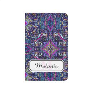 Boho blue kaleidoscope native american trend journal