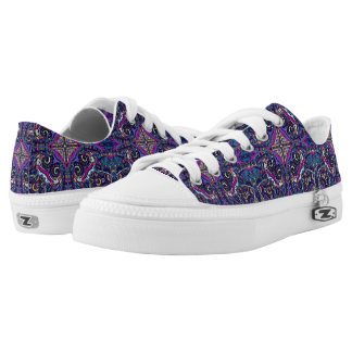 Boho blue kaleidoscope native american trend Low-Top sneakers