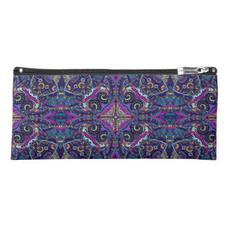 Boho blue kaleidoscope native american trend pencil case