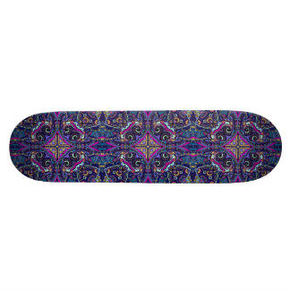 Boho blue kaleidoscope native american trend skateboards