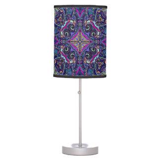 Boho blue kaleidoscope native american trend table lamp