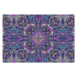 Boho blue kaleidoscope native american trend tissue paper