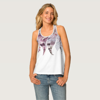 Boho Bohemian Feathers Glam Graphic Trendy Modern Tank Top