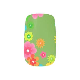 Boho Bohemian Retro Colorful Floral Flowers Minx Nail Art