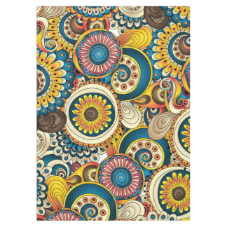 Boho Bohemian Retro Colorful Pattern Tablecloth